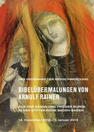 Bibelübermalungen von Arnulf Rainer in der Stiftskirche Baden-Baden - Plakat
