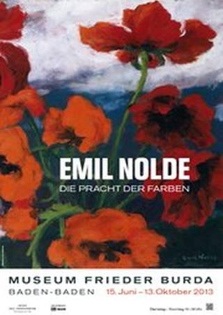 EMIL NOLDE. Die Pracht der Farben - Plakat