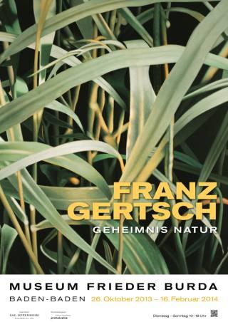 FRANZ GERTSCH. Geheimnis Natur - Plakat