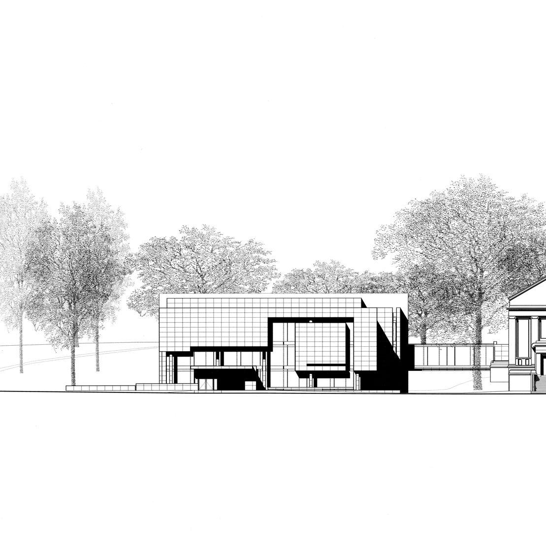 Architektur museum frieder burda - Ansicht architektur ...